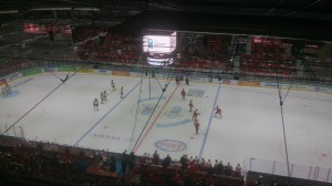 match de Ice Hockey, vue des loges.